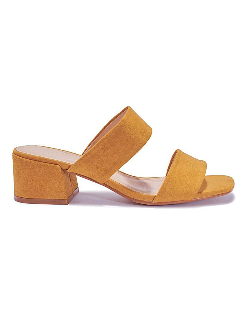 Simply Be Two Strap Block Heels Standard Fit