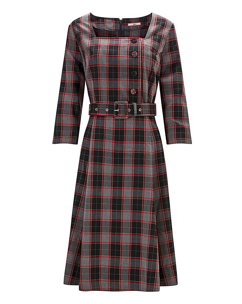 Vintage Inspired Dresses & Clothing UK Joe Browns Vintage Check Dress £55.00 AT vintagedancer.com