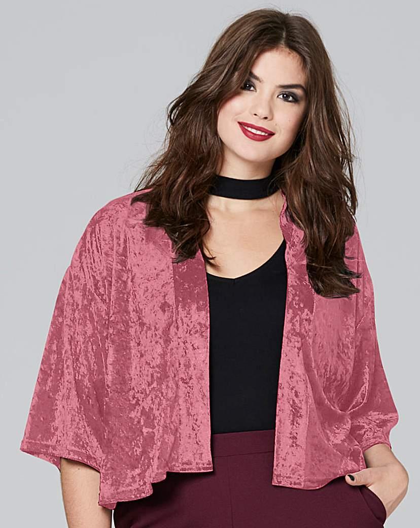 Simply Be Velvet Kimono Jacket
