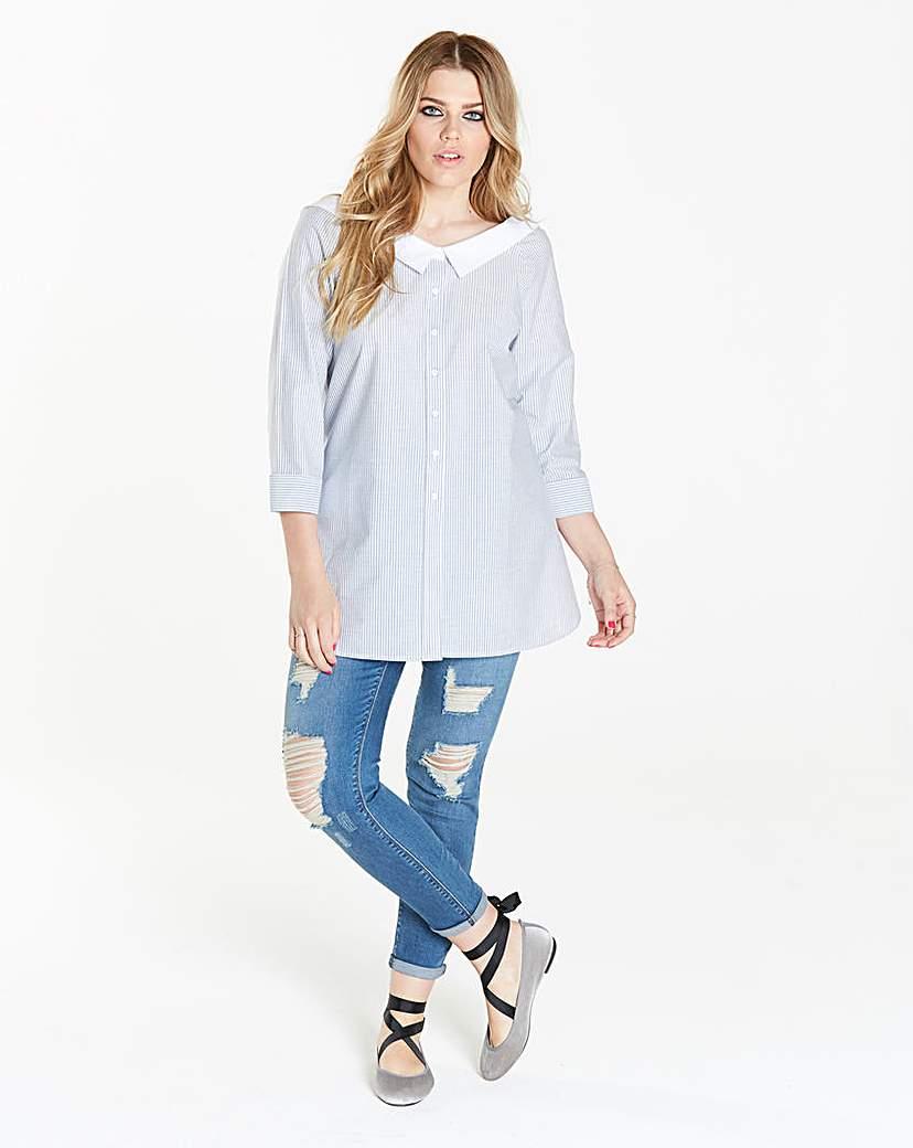 Simply Be Simply Be Oversize Bardot Shirt
