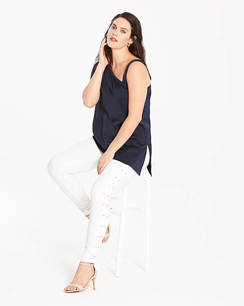 Simply Be Simply Be Side Lace Up Detail Jeans