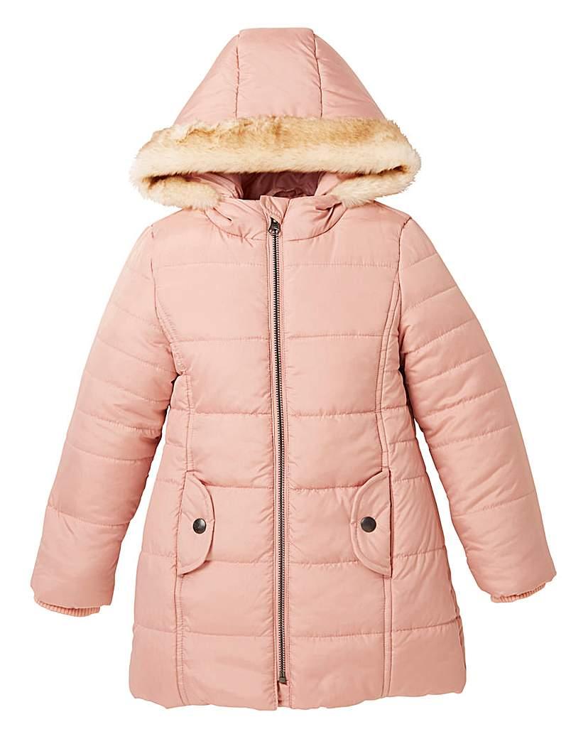 KD Girls Padded Long Winter Coat
