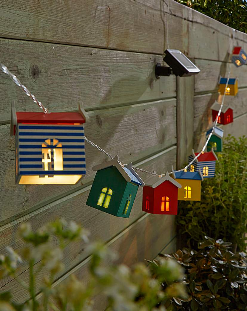 Image of 10 Solar Beach Hut String Lights