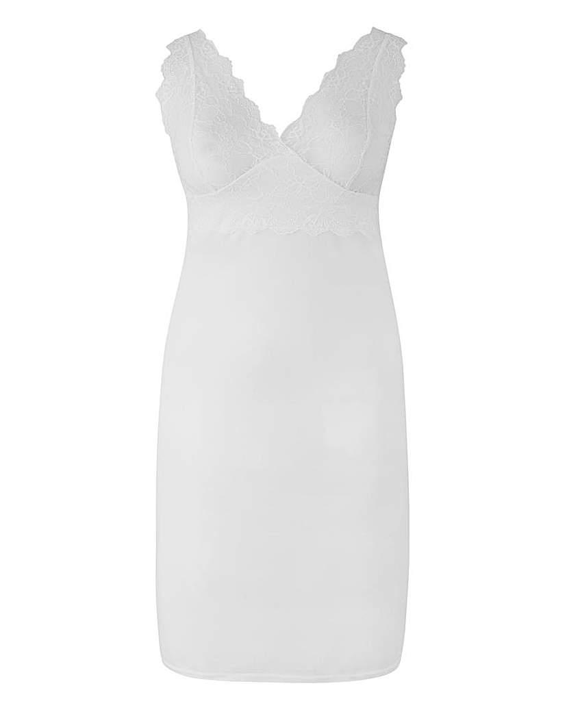 Single Lace Full Slip White, L41