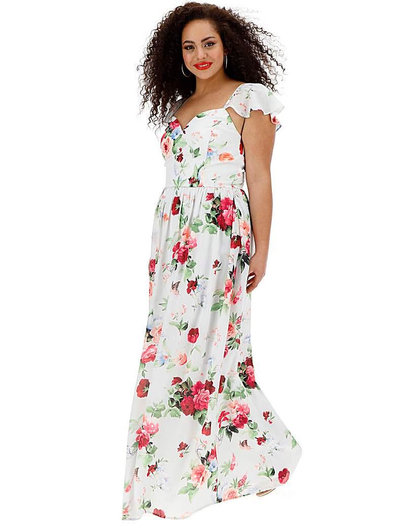 Chi Chi London Chi Chi London Floral Maxi Dress