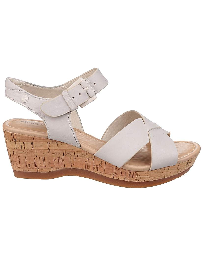 Retro Sandal History: Vintage and New Style Shoes Hush Puppies Eva Farris Wedge Sandals £59.00 AT vintagedancer.com