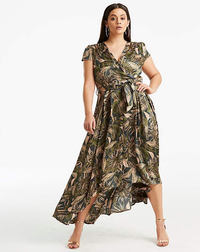 AX Paris AX Paris Curve Tropical Wrap Dress