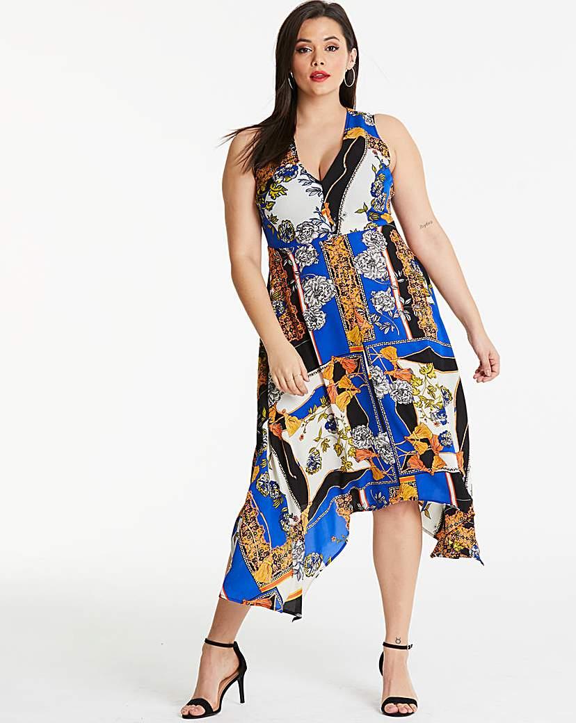 AX Paris AX Paris Hanky Hem Scarf Print Dress