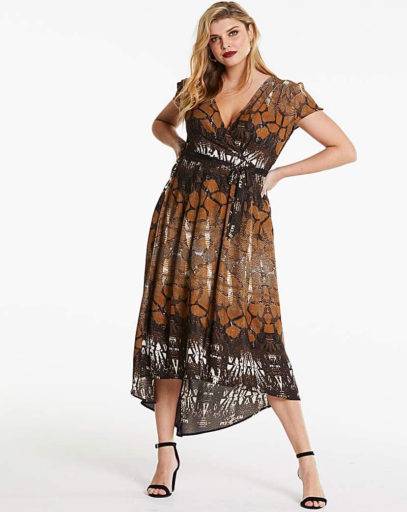 AX Paris AX Paris Curve Animal Print Wrap Dress