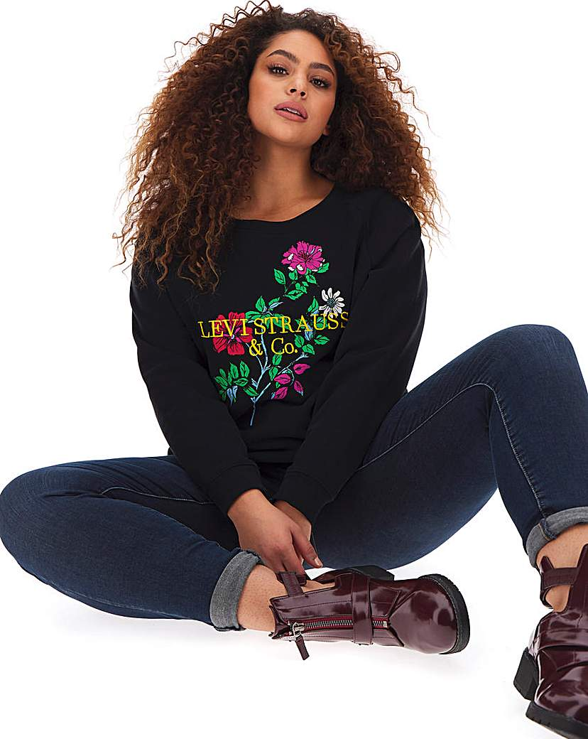 Levi's Floral Relaxed Graphic Crew
