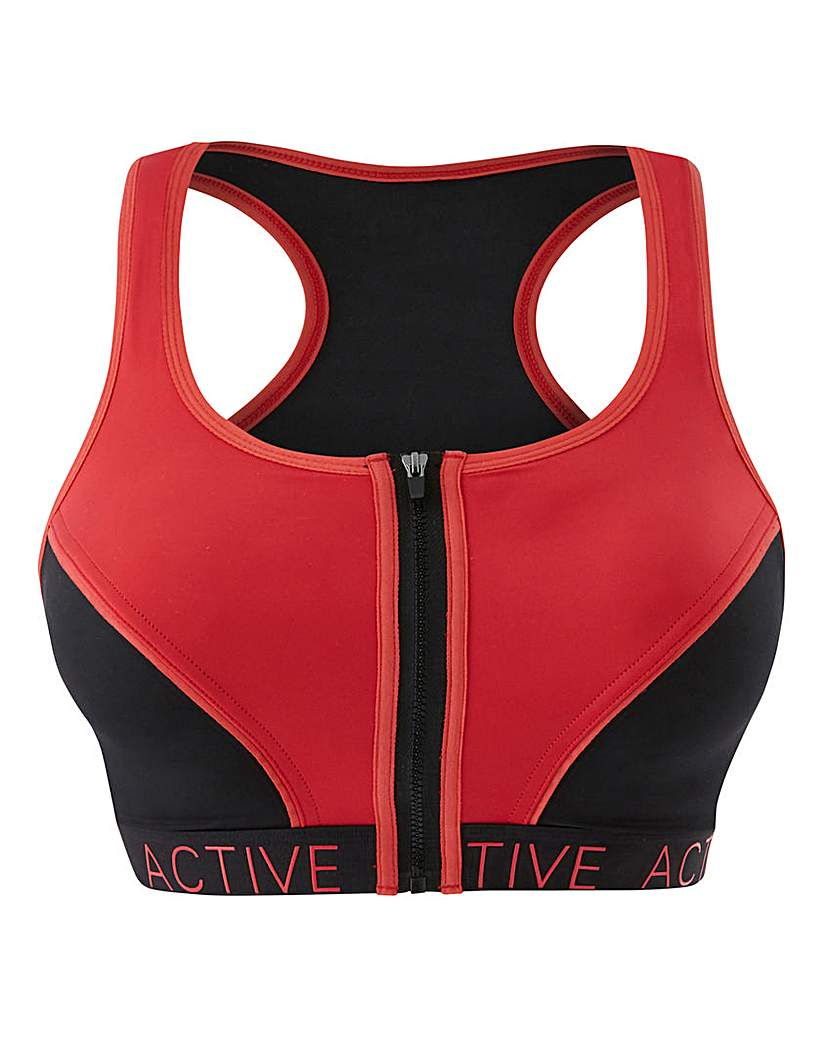 Image of High Impact Zip Front Sports Bra