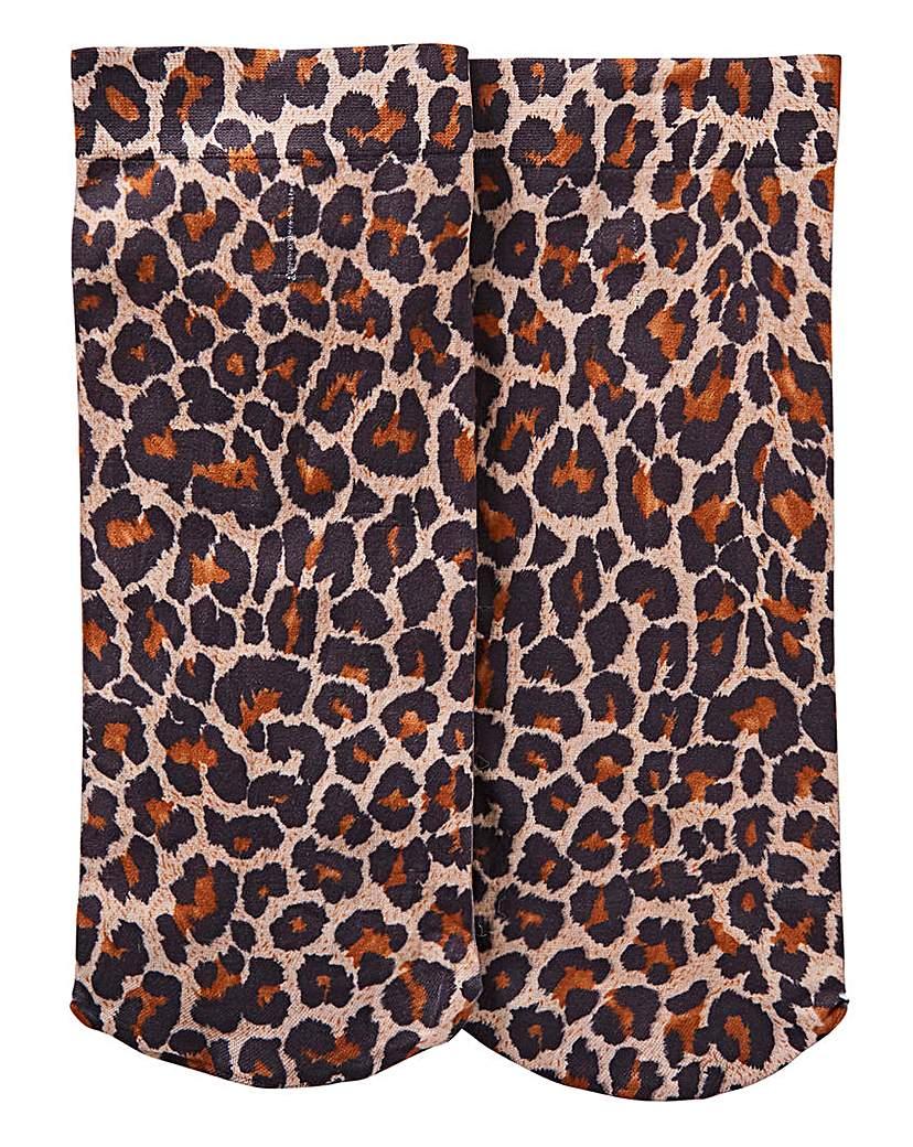 Simply Be 1 Pack Leopard Print Socks