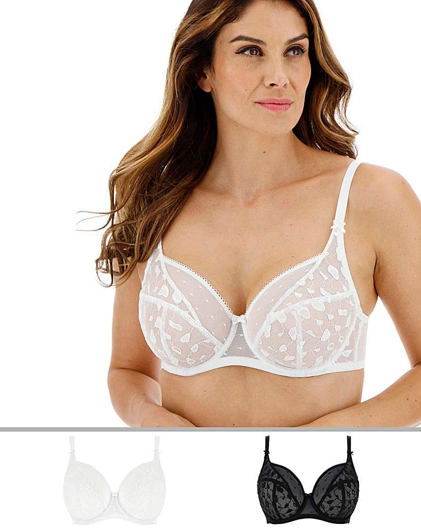 Image of 2Pack Lucy Spot Mesh Full Cup Bras