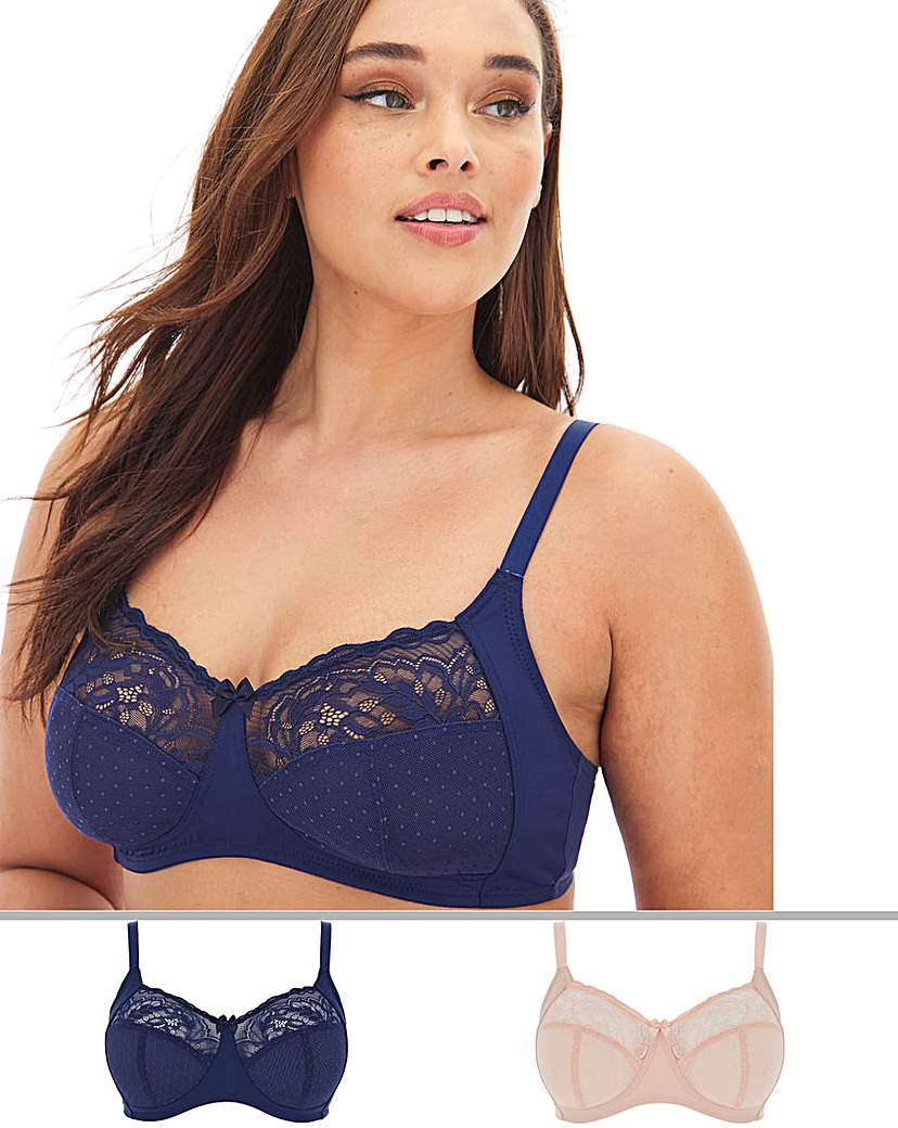 Pretty Secrets 2 Pack Eva Lace Non Wired Bras