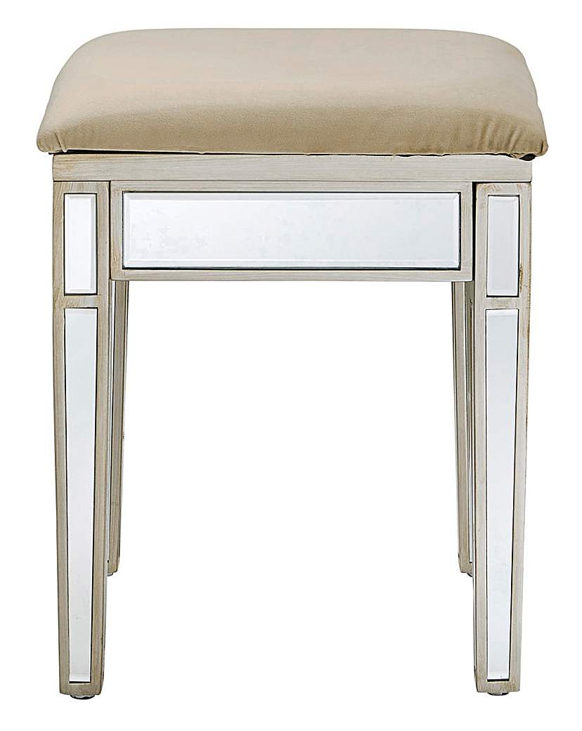 At Home Luxe Perla Dressing Stool