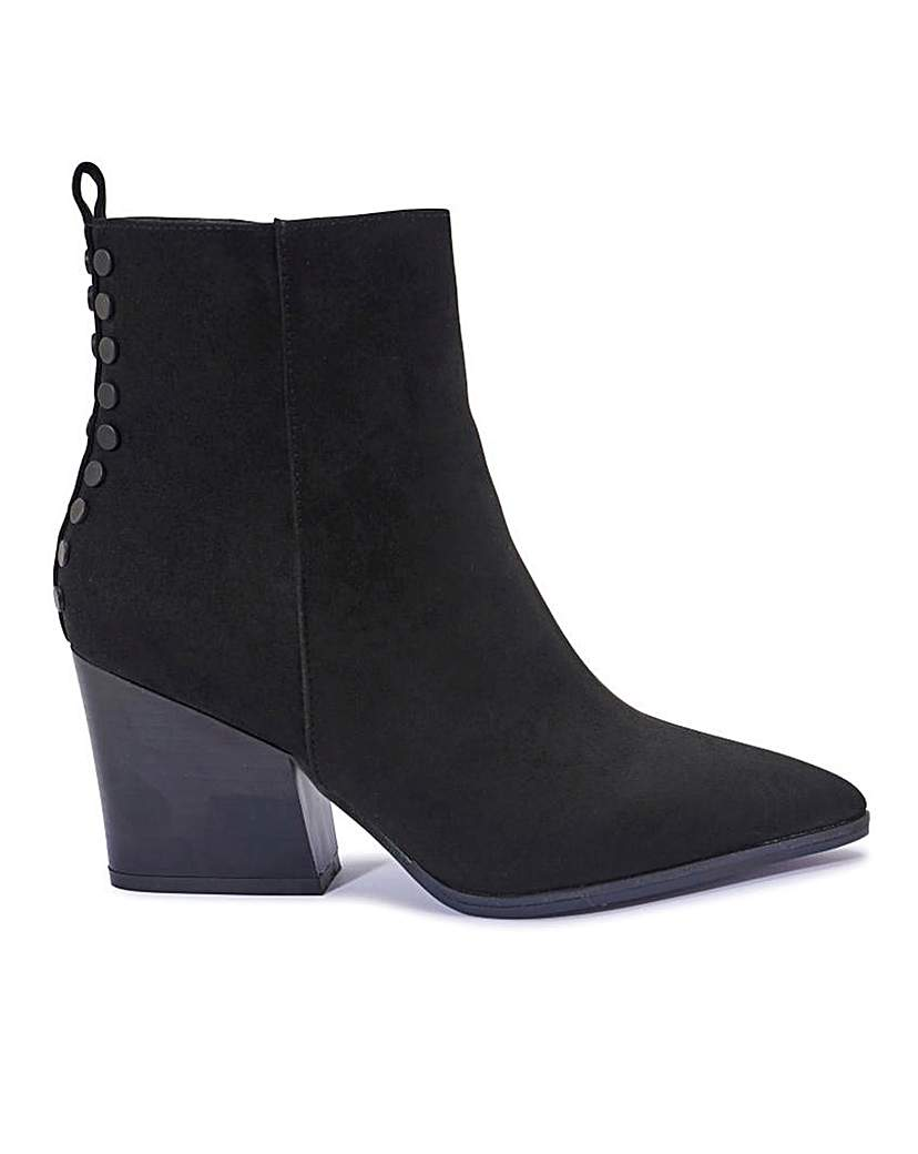 Western Style Ankle Boots Standard Fit