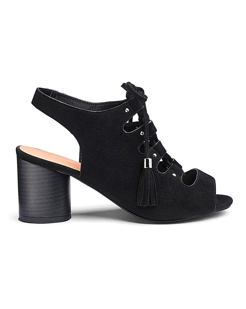 Simply Be Evelyn Lace Up Shoe Boot Wide Fit