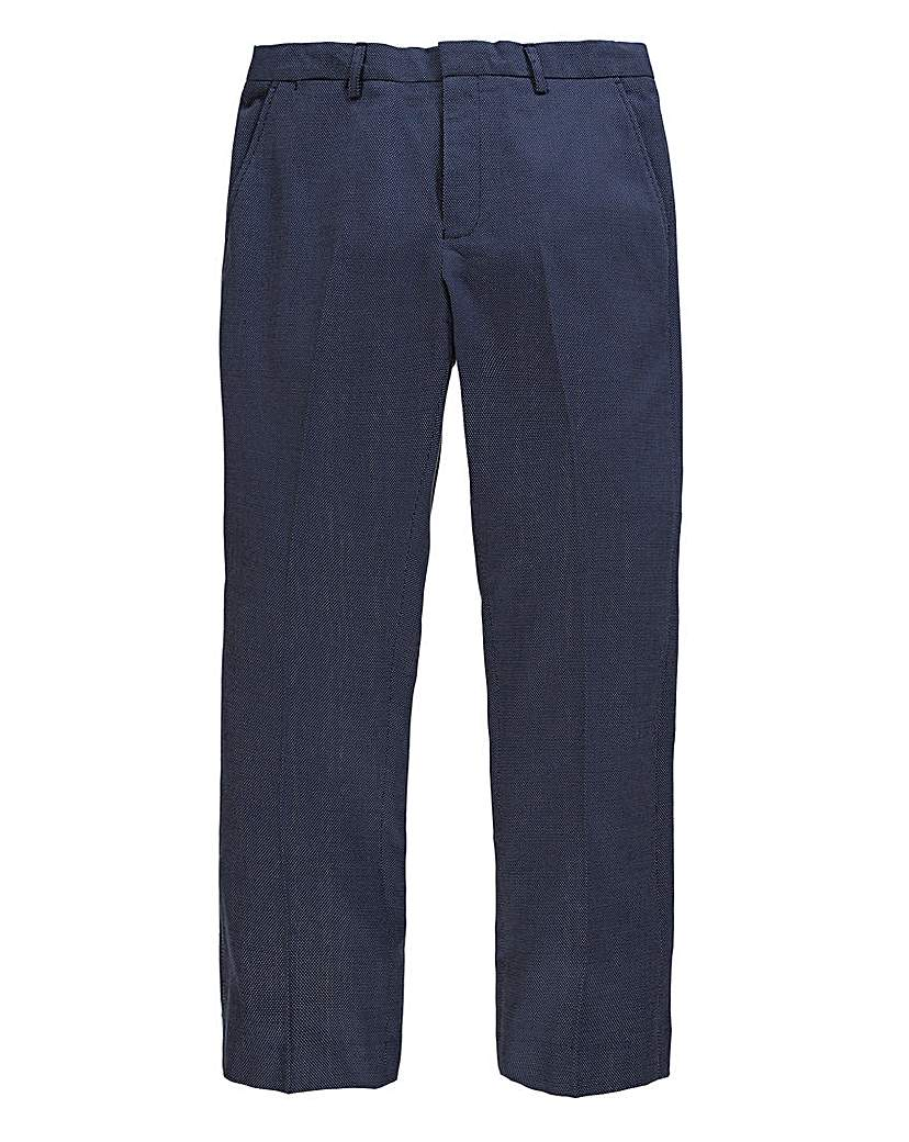 Image of Black Label Spot Textured Trousers 31in