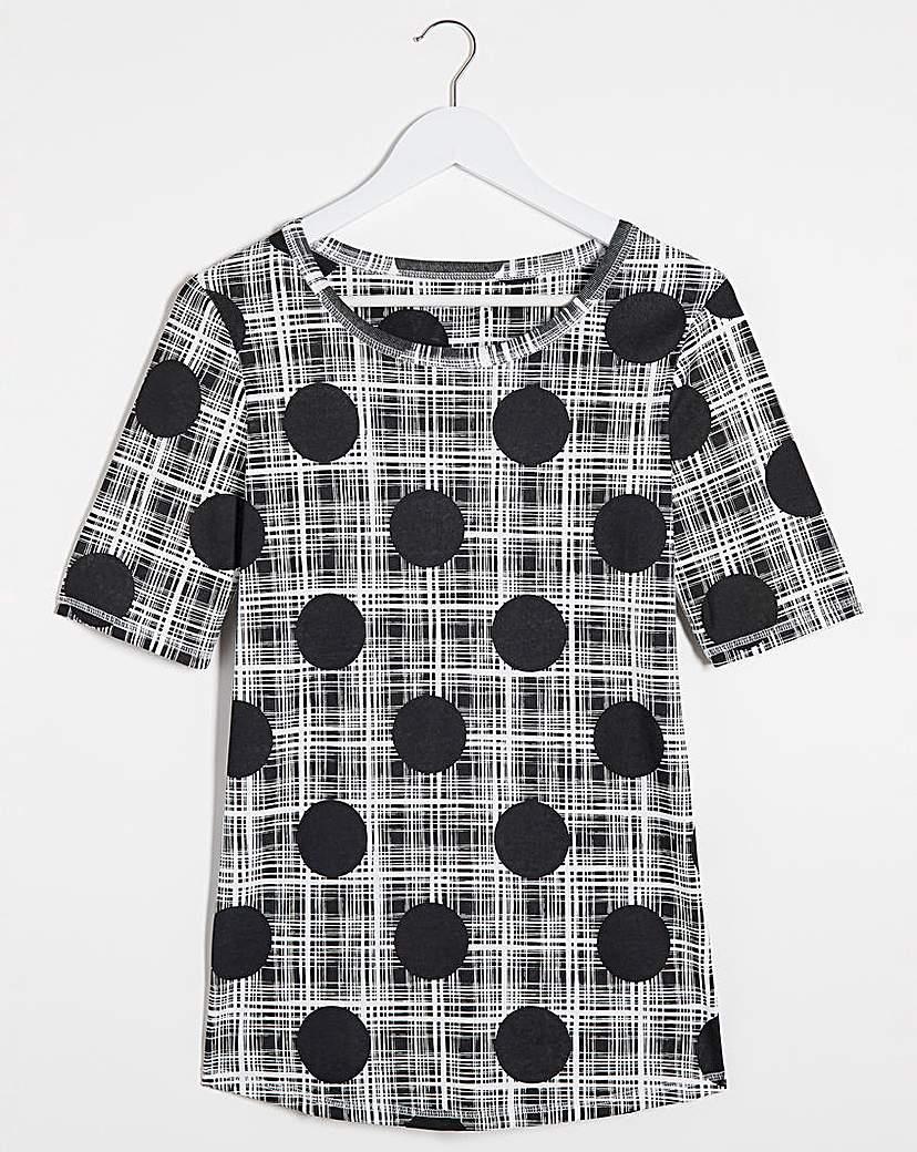 JD Williams Spot/Stripe Value T-Shirt