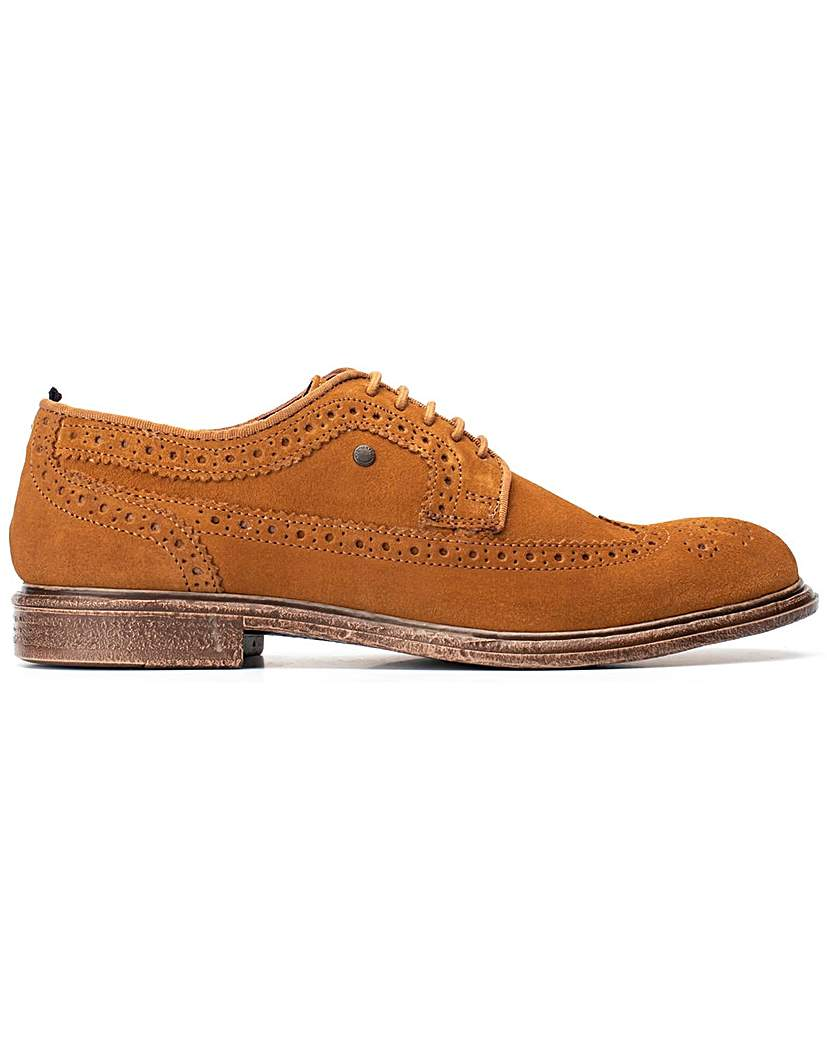 Base London Base London Onyx Suede Lace Up Brogue