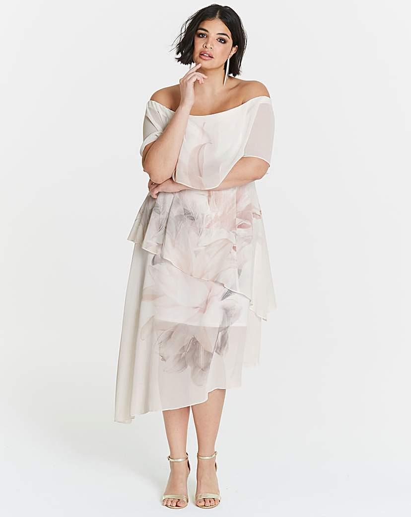 Coast Coast Tara Print Tiered Dress