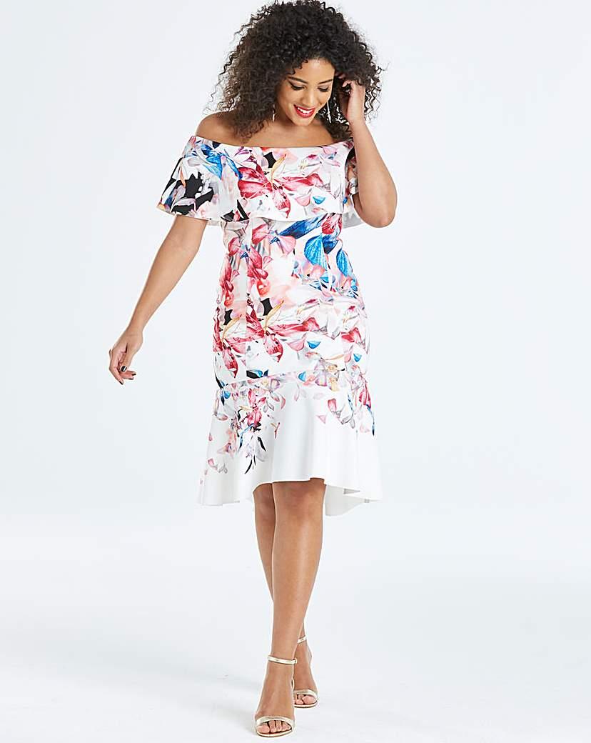 Coast Coast Jackie Print Scuba Dress