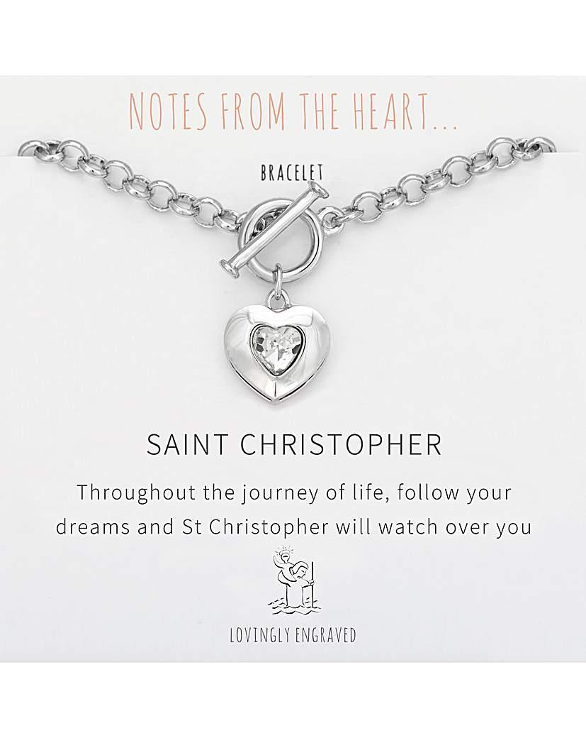 Saint Christopher Heart Bracelet
