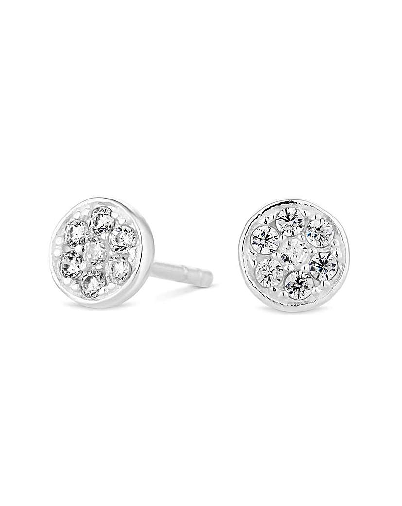 Simply Silver by Jon Richard Simply Silver Pave Stud Earring
