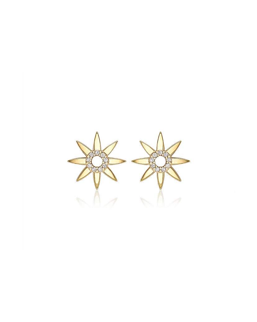 Simply Be 9CT CZ Sun Earrings