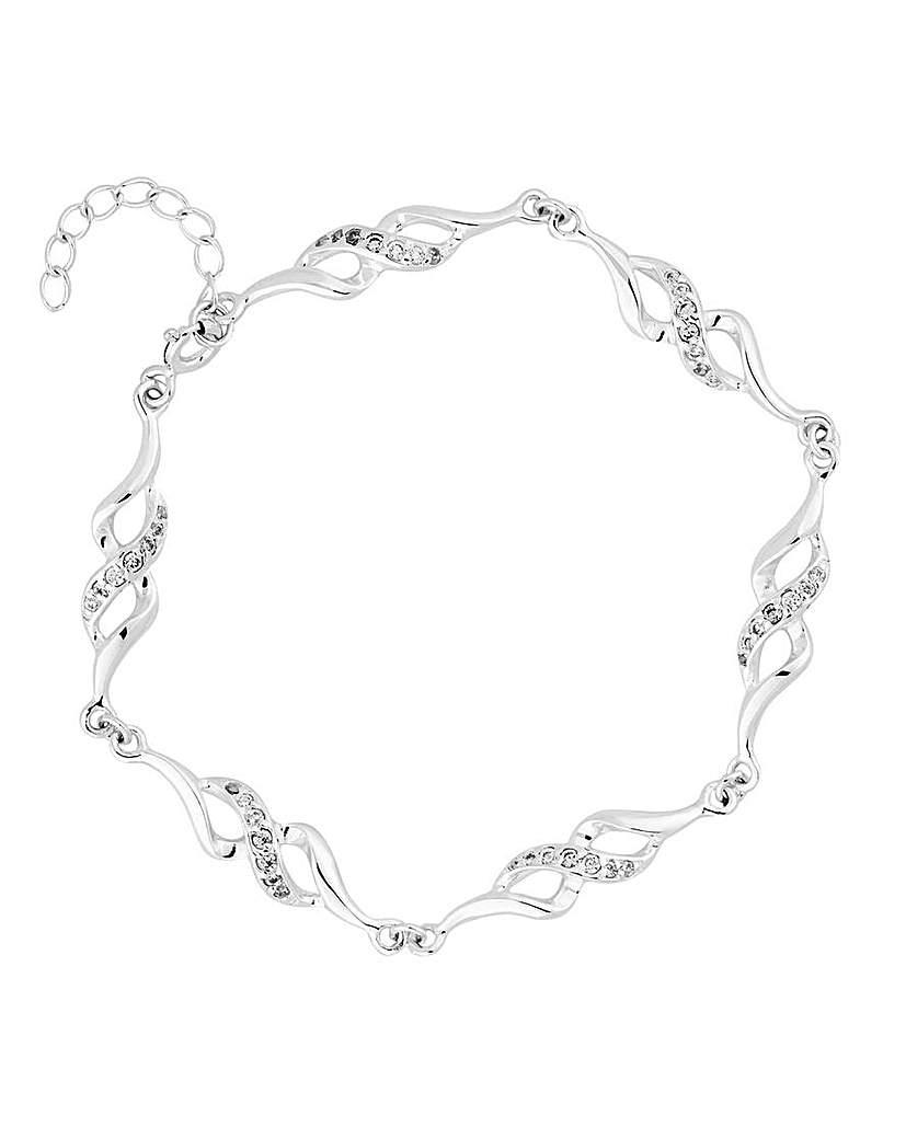 Simply Silver Twist Link Bracelet