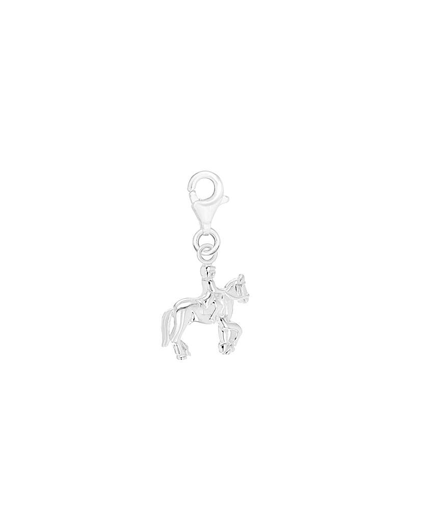 Simply Be Sterling Silver Equestrian Charm