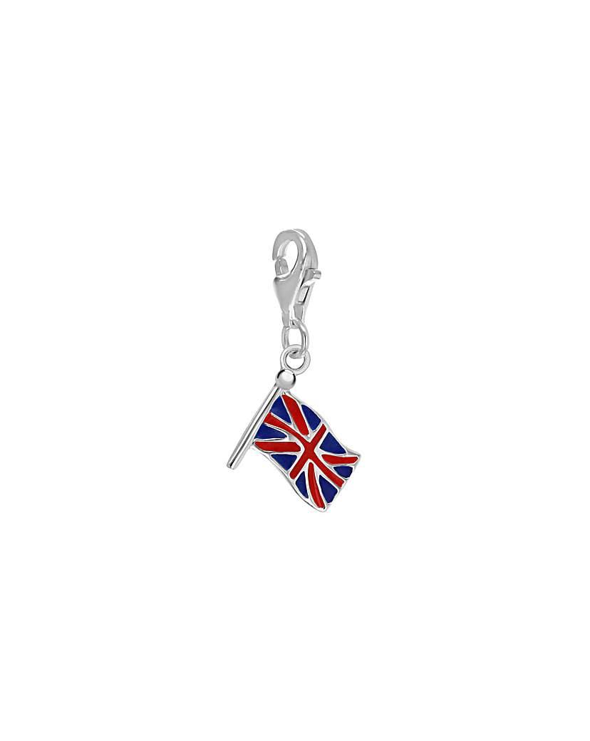 Simply Be Sterling Silver Enamel British Charm