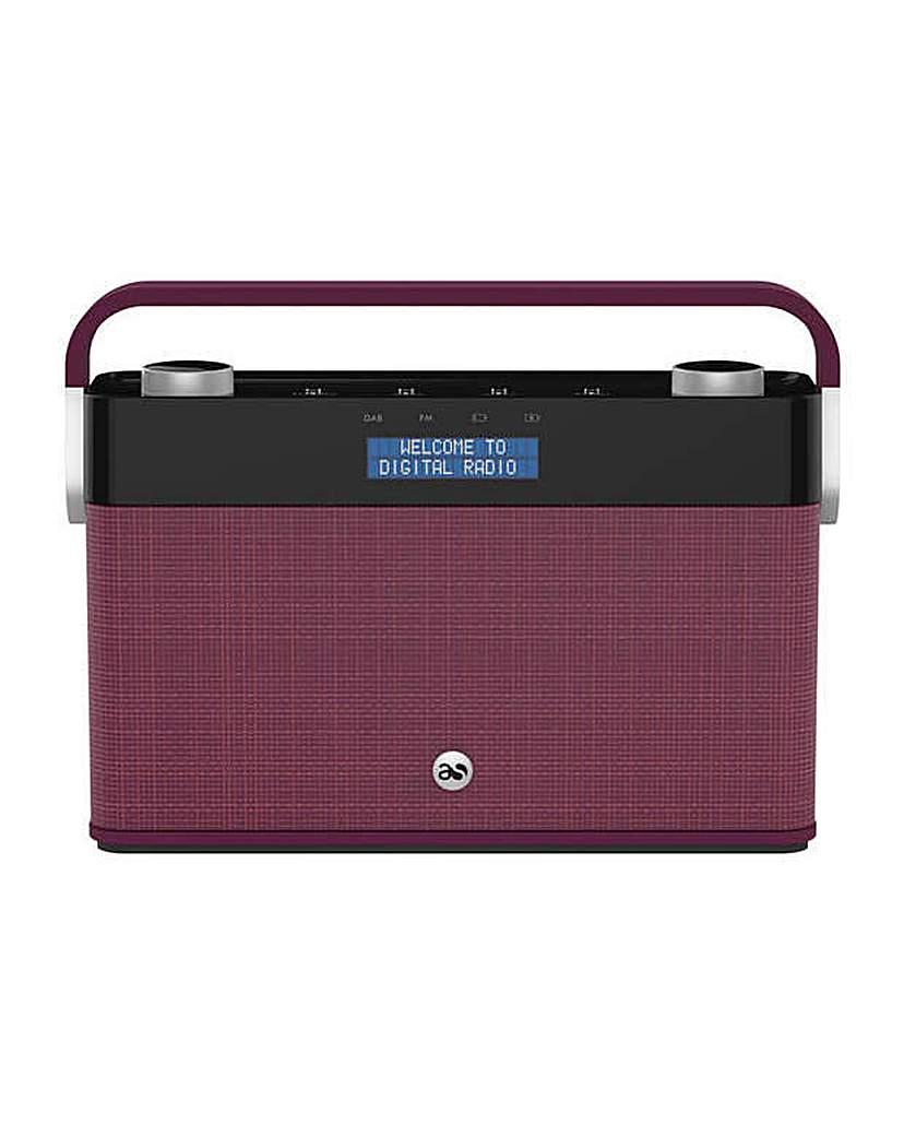 Image of Acoustic Solutions DAB Radio - Plum