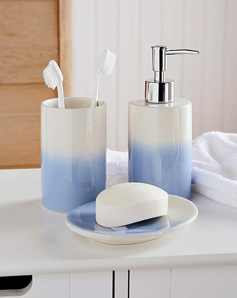 Image of Ombre 3 Piece Bathroom Accessory Set