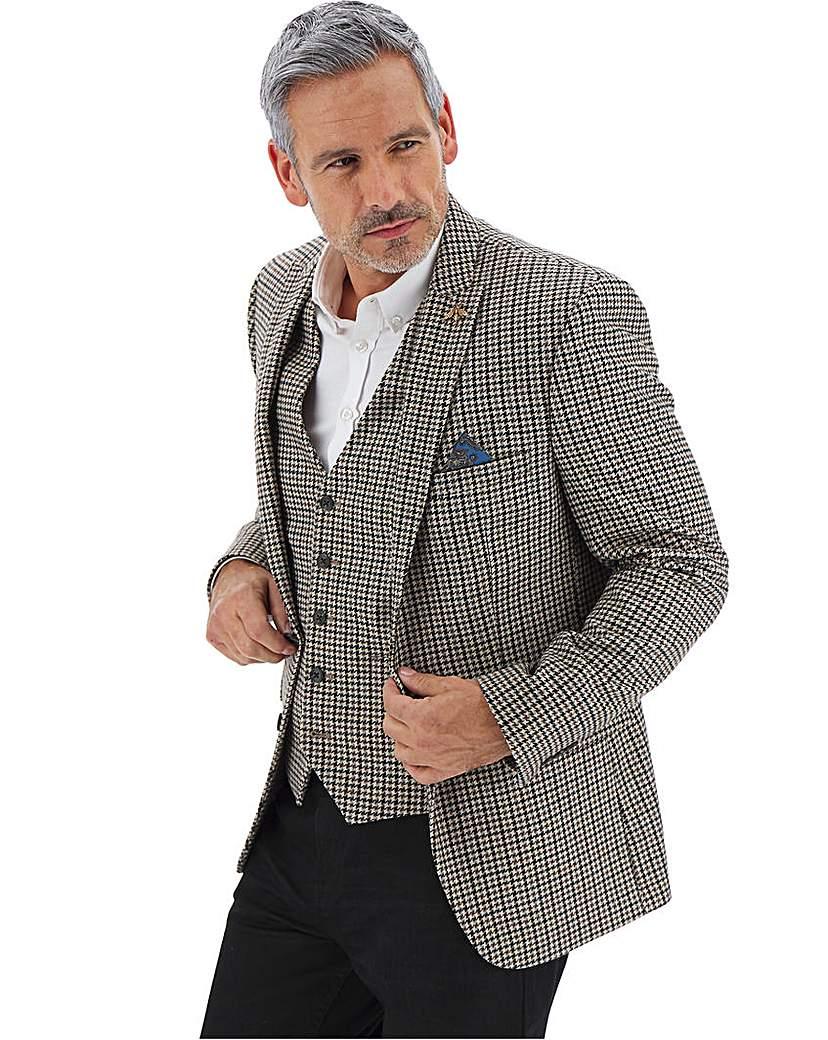 Men's Outerwear Brown/Grey Nelson Dogtooth Blazer