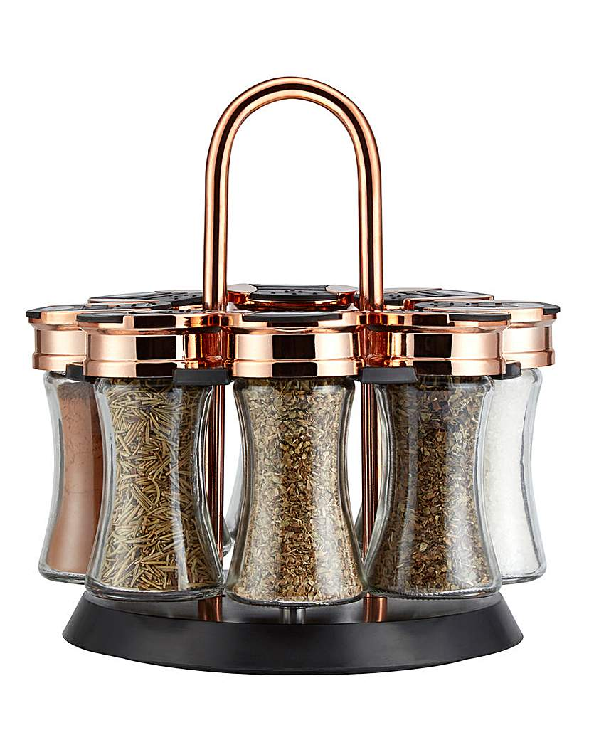 Tower Tower Rose Gold Rotating Spice Rack