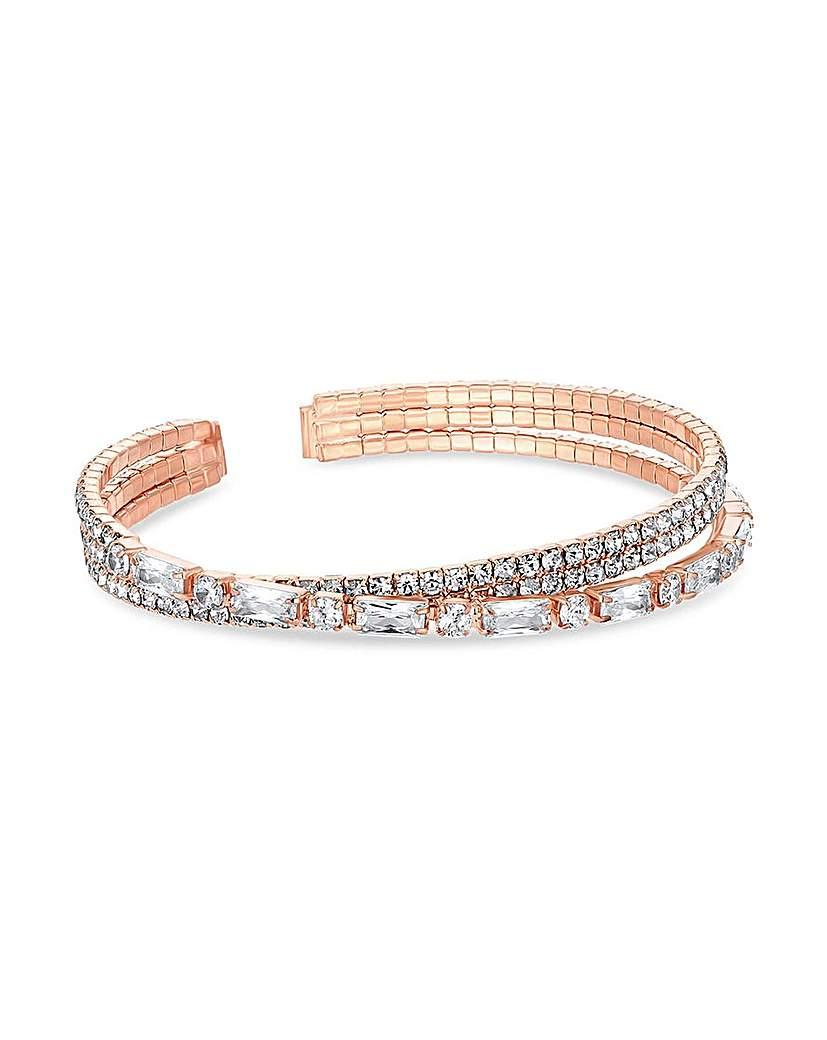 Jon Richard Rose Gold Cuff Bracelet