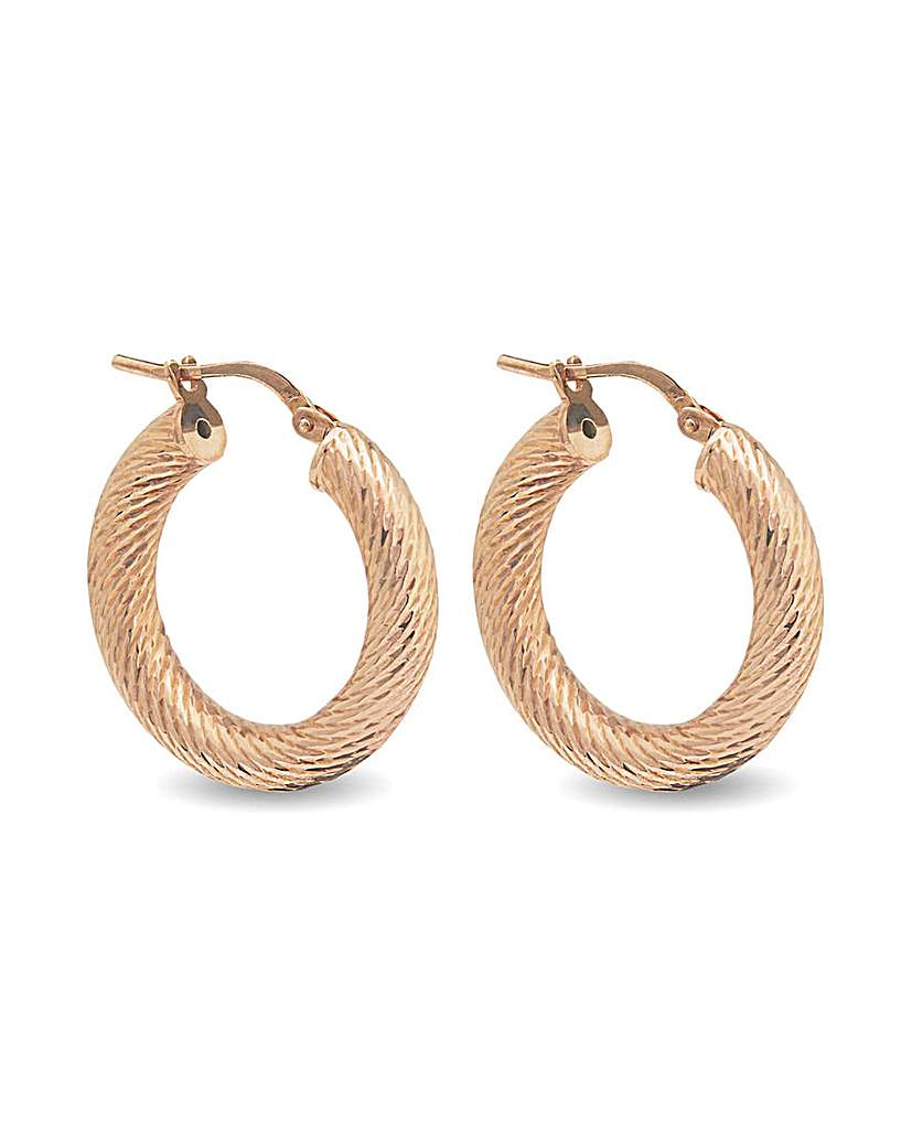 Simply Silver Rose Gold Chunky Earrings