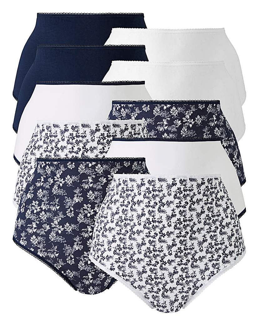 Image of 10 pack Navy Bloom Full Fit Briefs