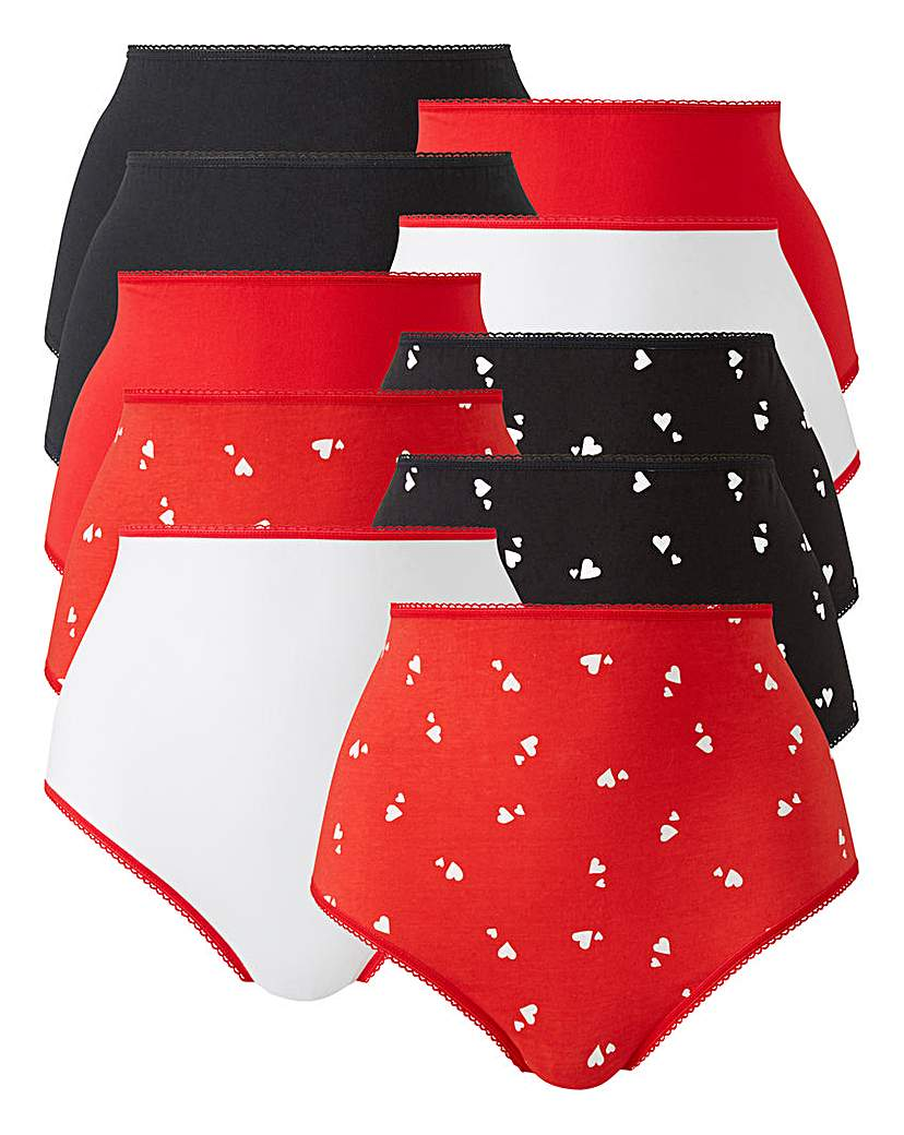 Image of 10 pack Heart Print Full Fit Briefs
