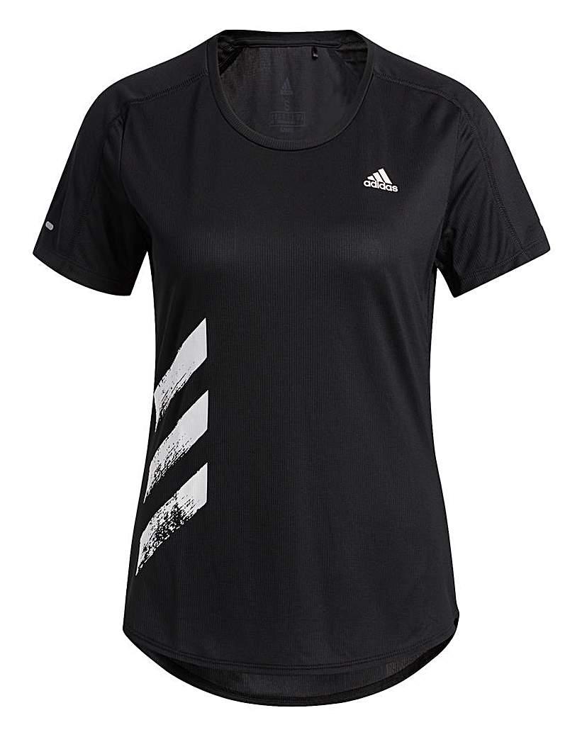 Adidas adidas Run It 3 Stripes T-Shirt