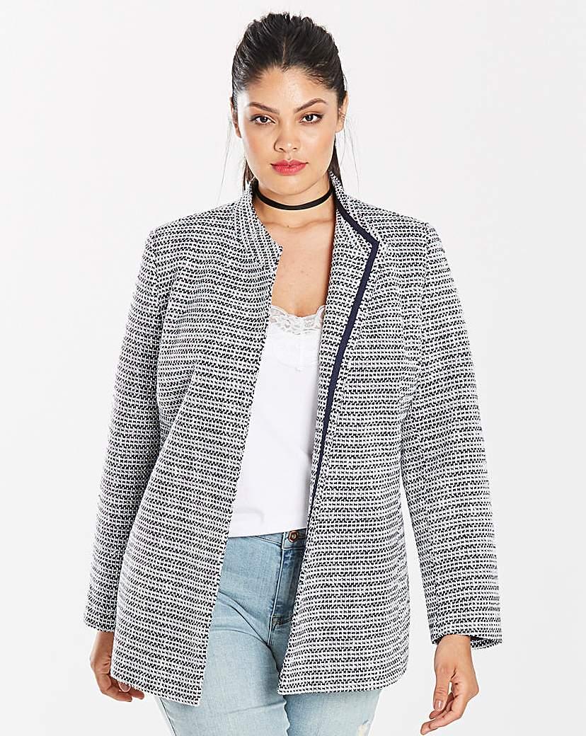 Simply Be Tweed Belted Wrap Jacket