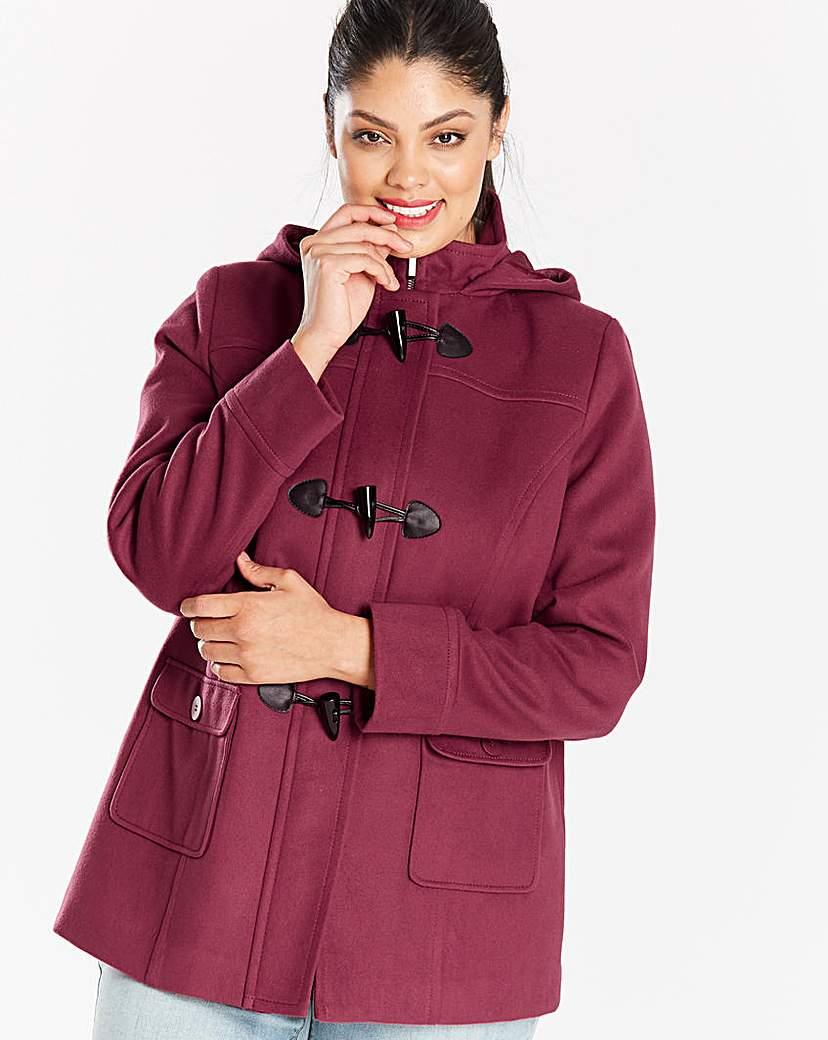 Simply Be Plain Duffle Coat Length 26in
