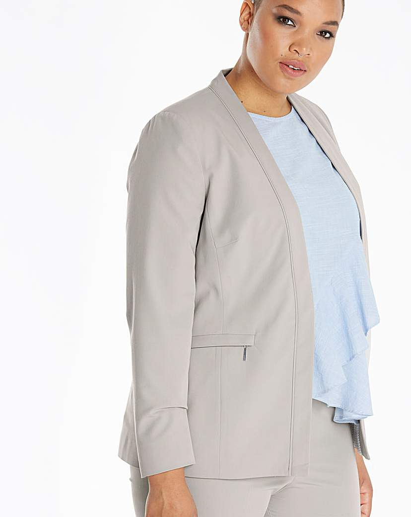 Simply Be Zip Pocket Tailored Jacket