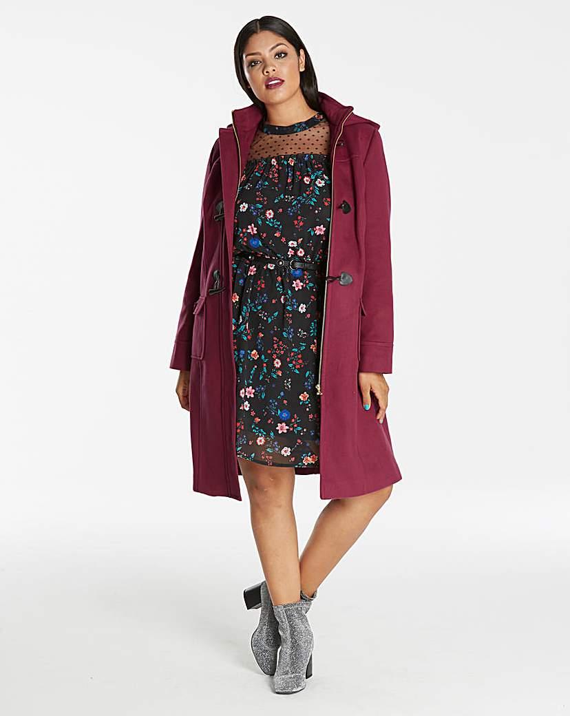 Simply Be Plain 3/4 Duffle Coat