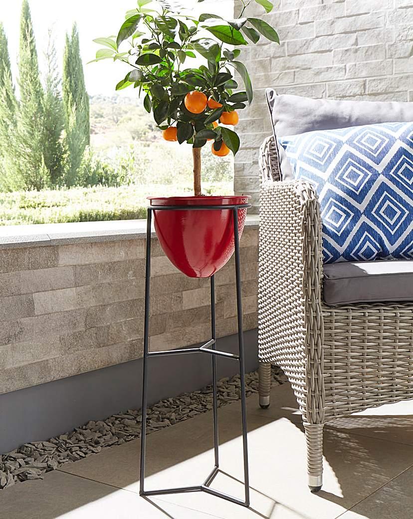 Image of Free-Standing Metal Flower Pot