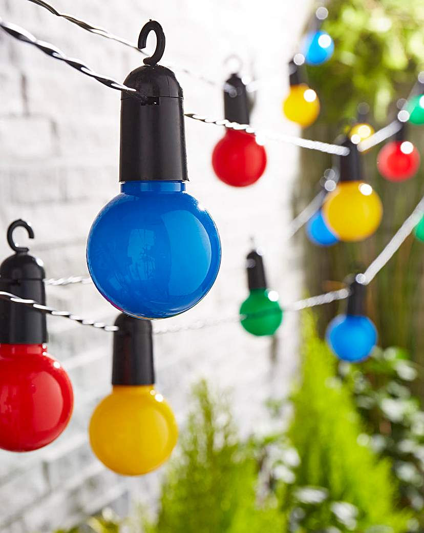 Image of 20 Solar Multicolour Garden Lightbulbs