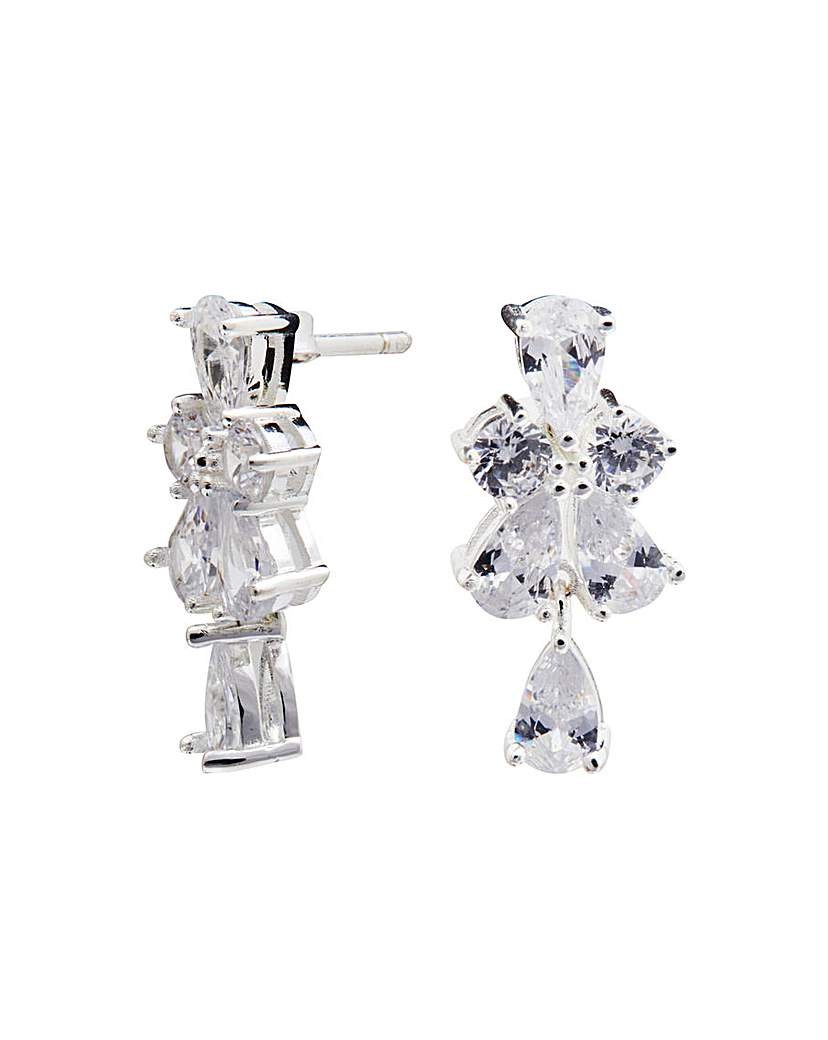 Simply Silver Cubic Zirconia Earrings