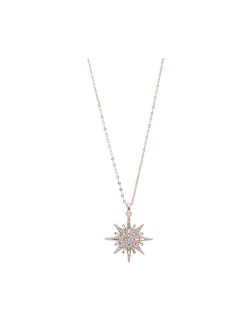 Rose Gold Plate Swarosvki Star Pendant