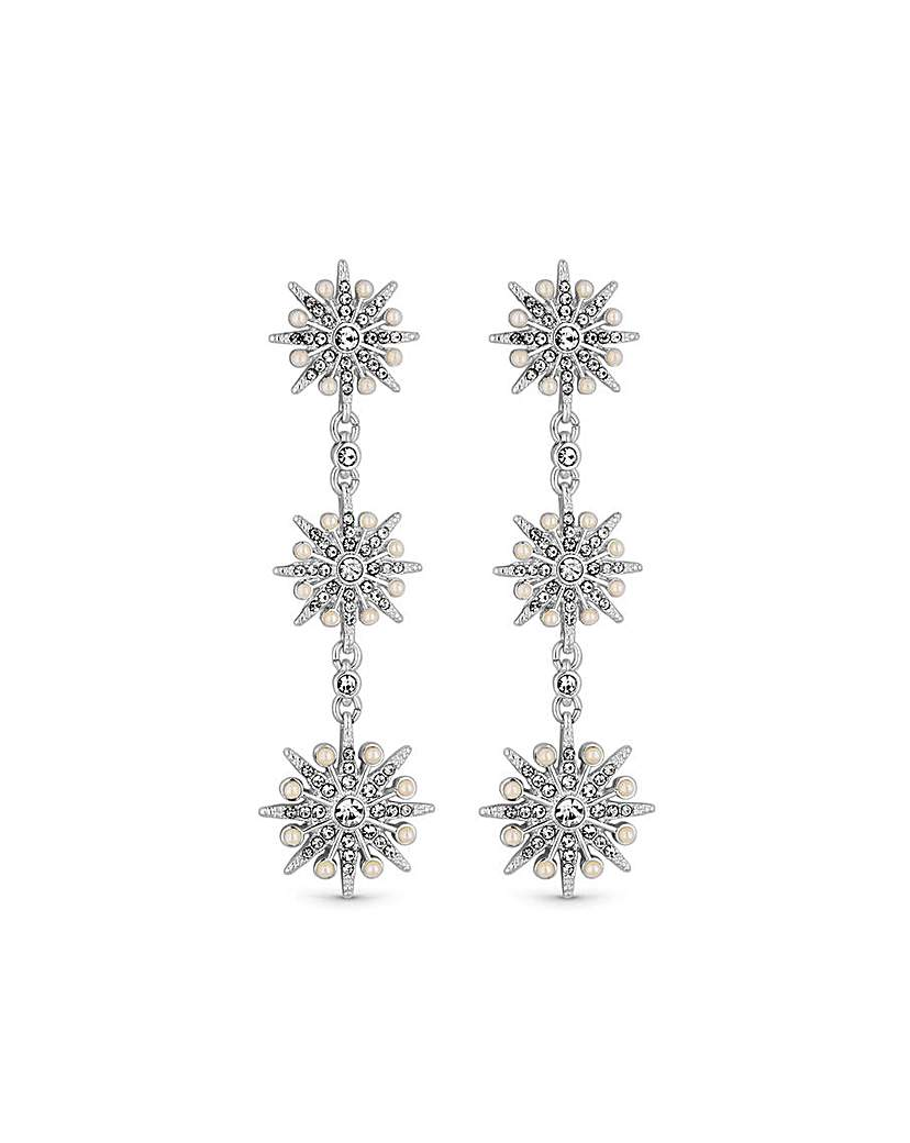Silver Plated Celestial Drop Earrings
